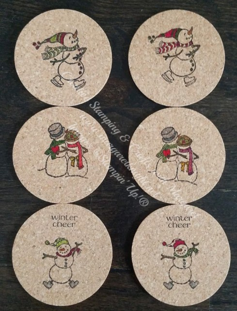 Spirited Snowmen Coasters