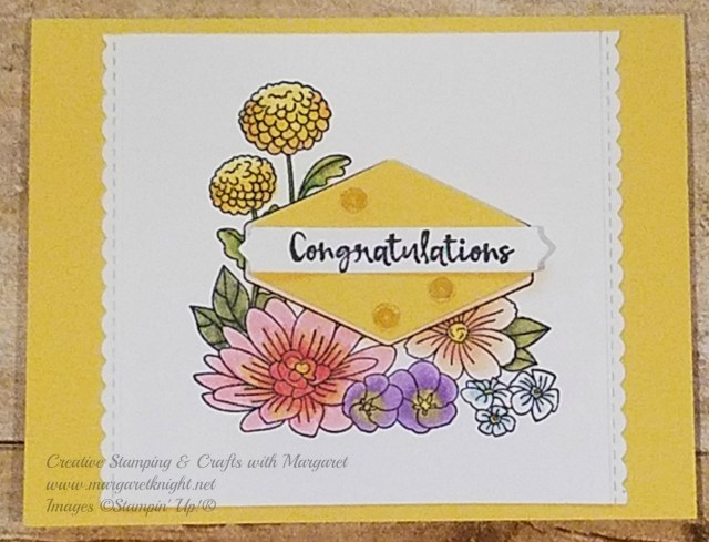 Congratulations using Accented Blooms