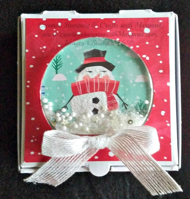 Snowman Snow Globe Mini Pizza Box