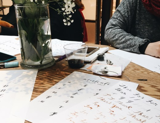 lettering calligraphy DIY class suzy lee