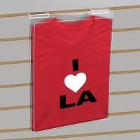 Slatwall T-Shirt Display | T-Shirt Display Wall Fixture ...
