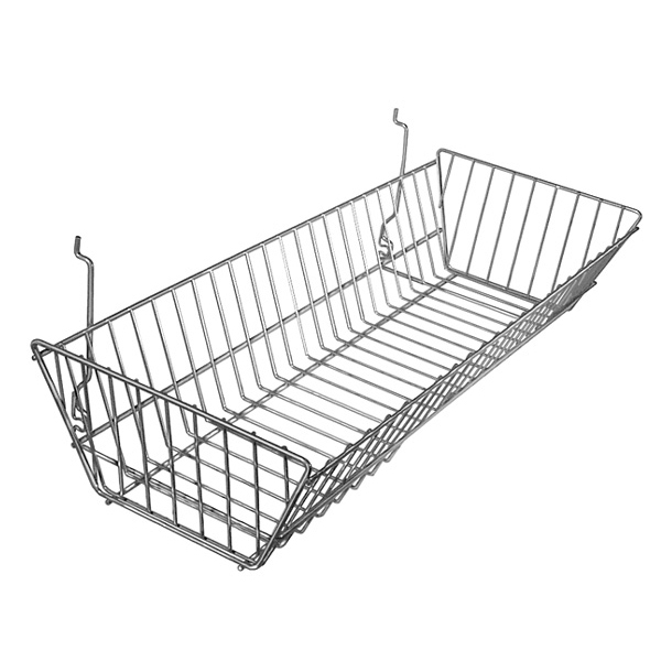 Large Double Sloping Wire Basket for Slatwall & Gridwall