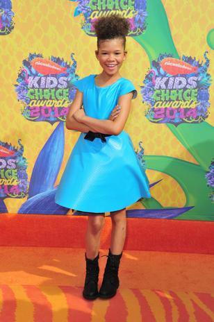 Film Academy Graduate Storm Reid (Regular on Nicky, Ricky, Dicky & Dawn) at the Nickelodeon Kids Choice Awards