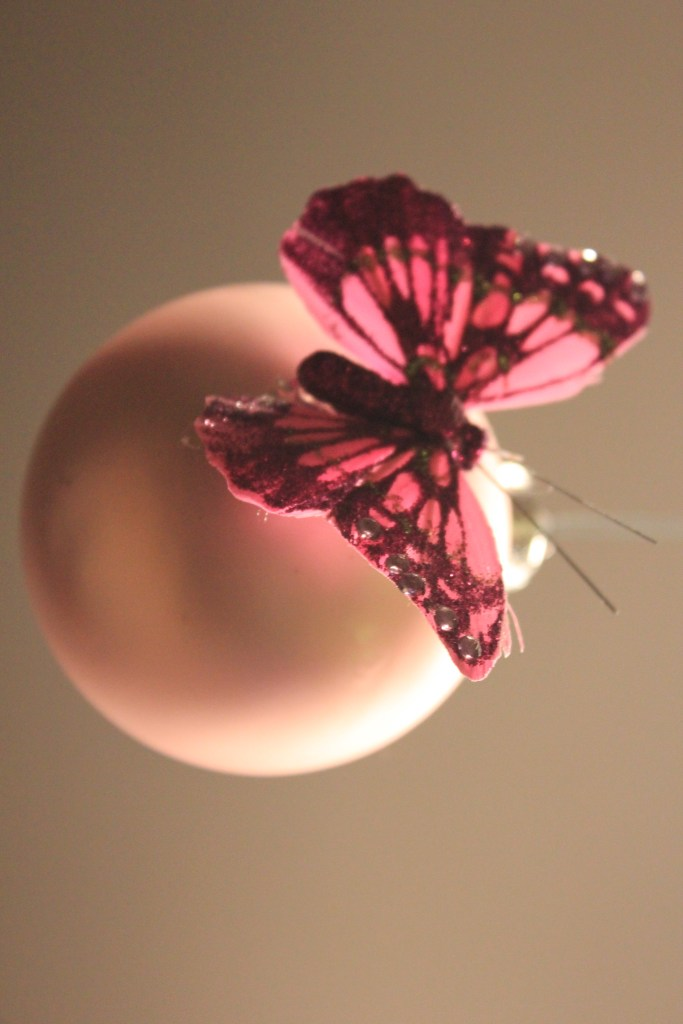 Pink ornaments with gorgeous butterflies
