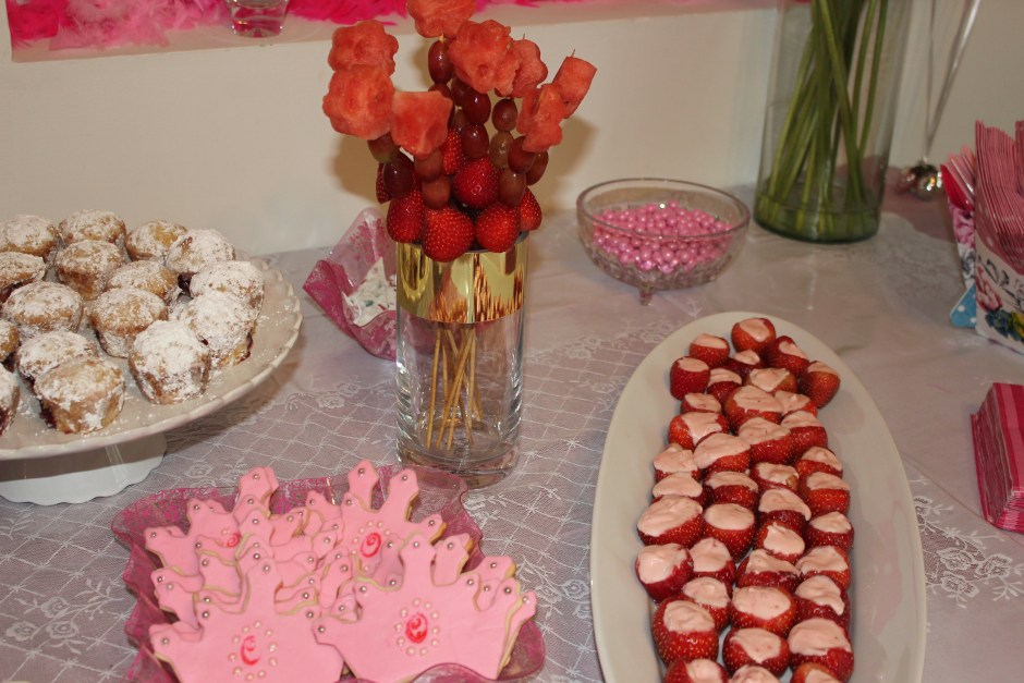 Pink crown cookies and other sweets