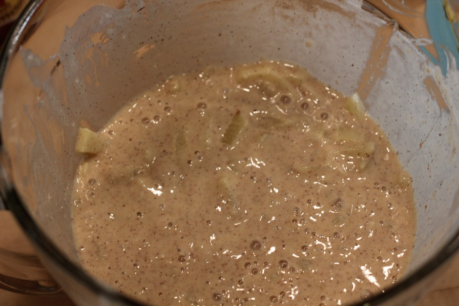 The batter is a little bubbly because of the sparkles.