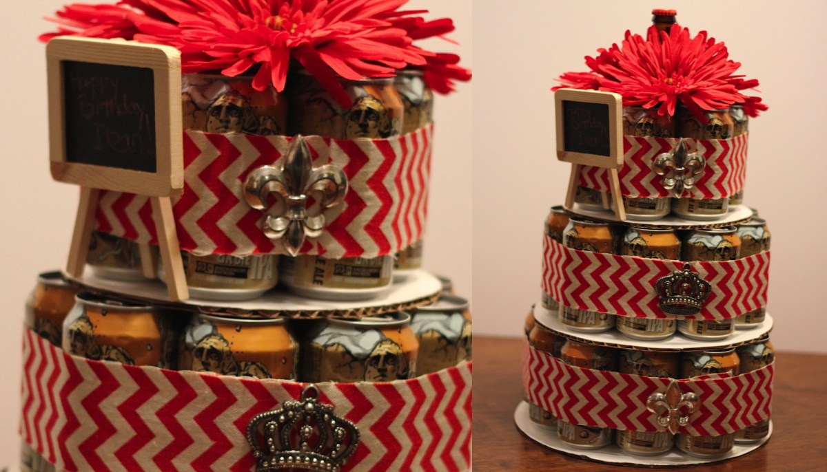 Beer Tower Cake