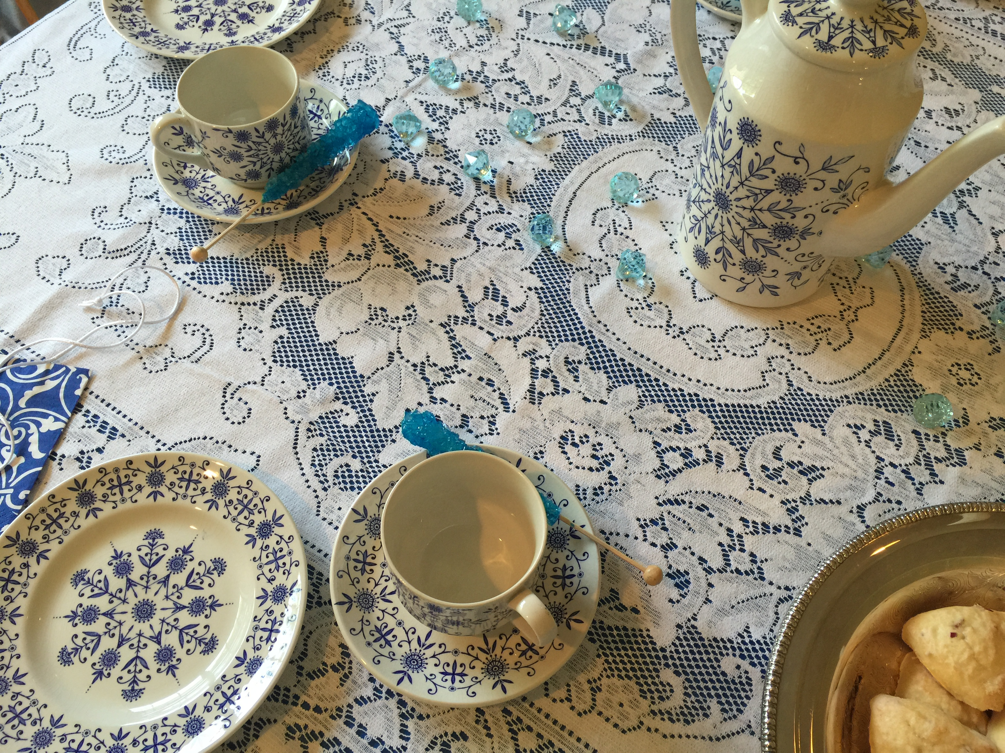 Ideas for a Snowflake Tea Party