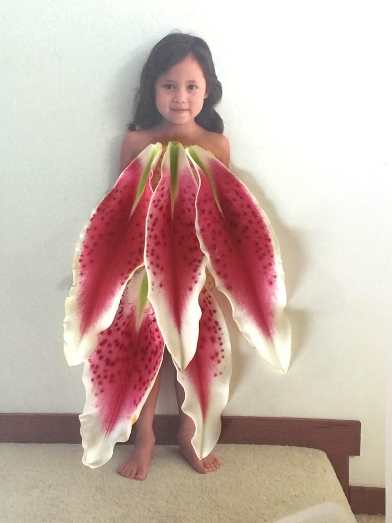 Stargazer lily petal dress