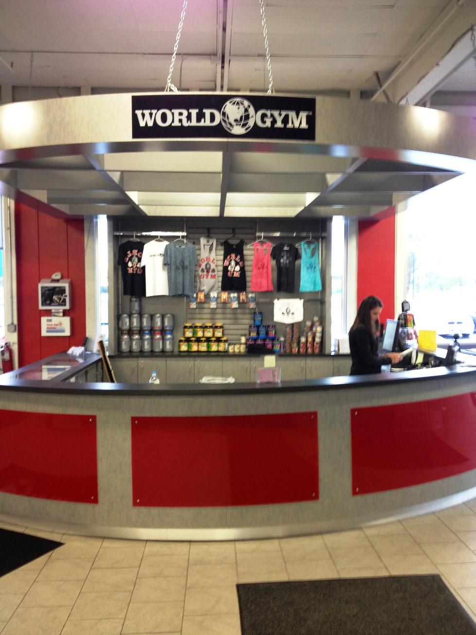 Fitness Center Reception Desk for World Gym  Creative