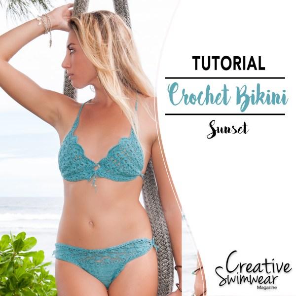 crochet pattern bikini sunset