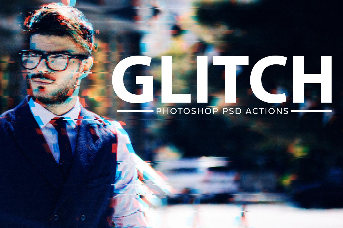 Free Glitch Effect PSD Photoshop Action Kit Creativetacos