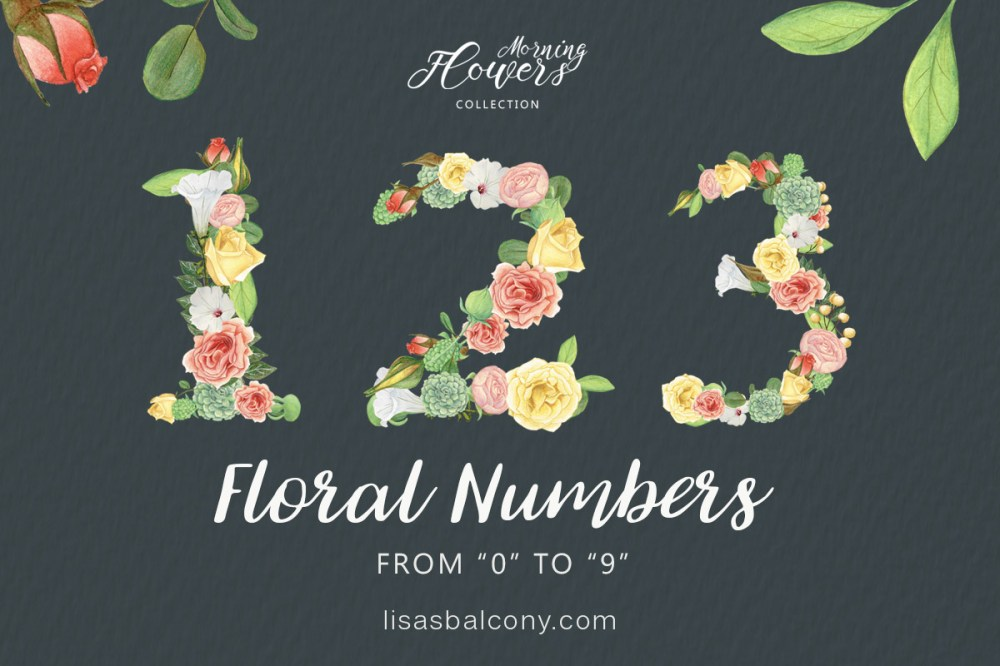 medium resolution of free floral numbers clipart