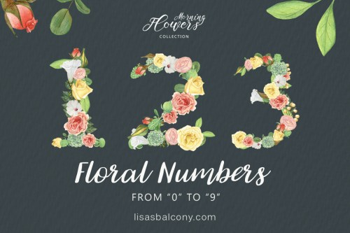 small resolution of free floral numbers clipart