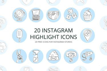 highlight instagram icons icon story creativetacos mockup vector graphicsfuel
