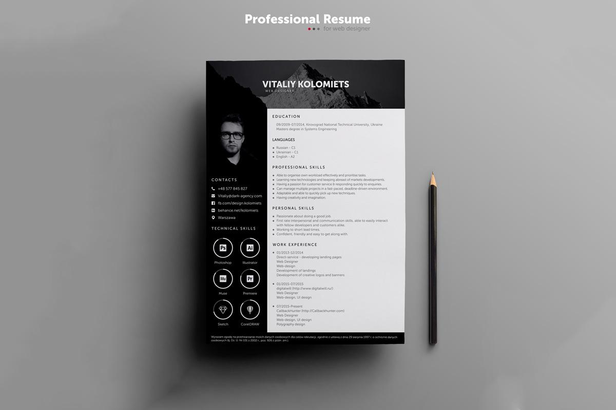 free resume preset templates