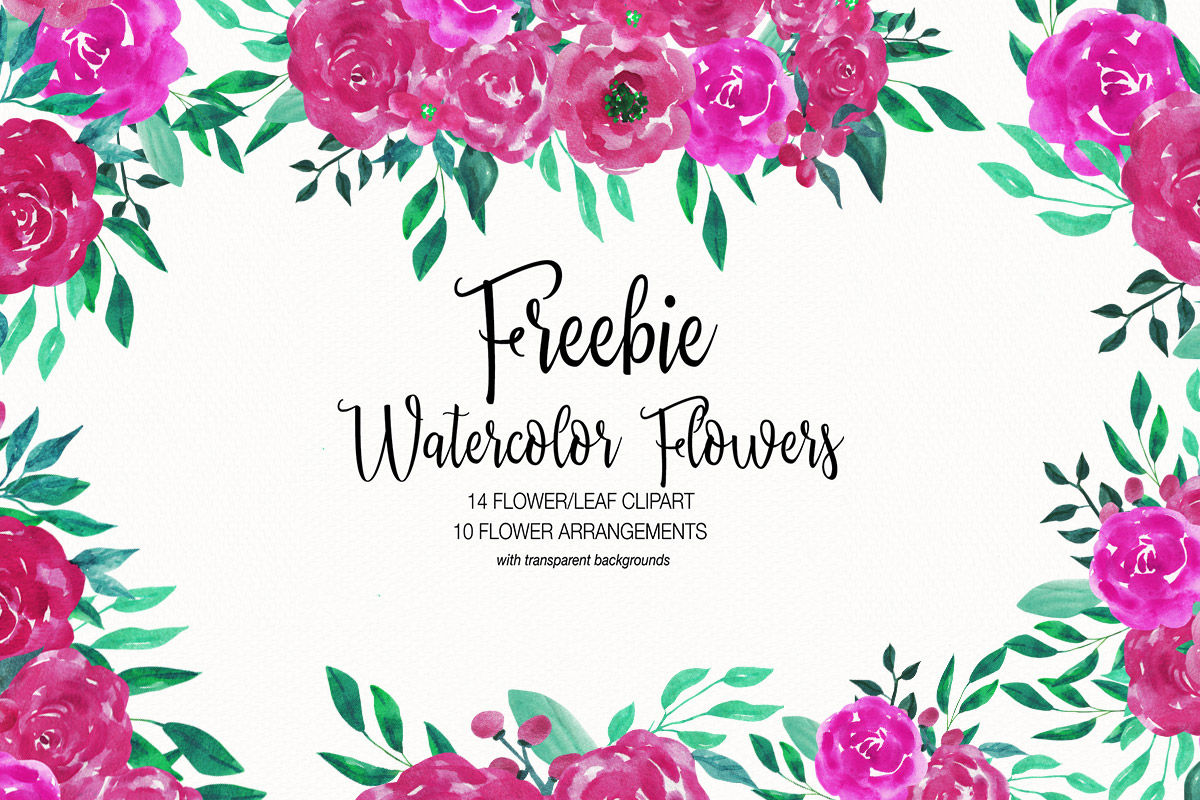 hight resolution of free watercolor flower clipart collection