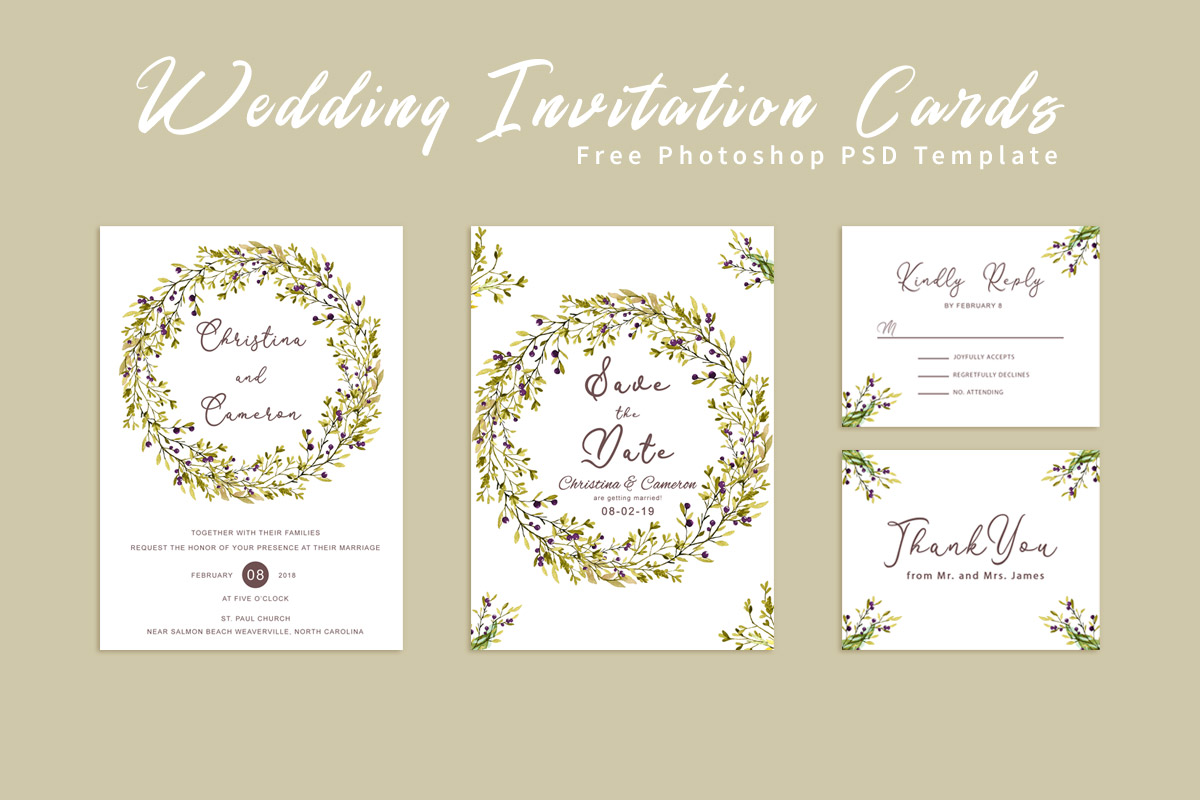 Free Wedding Invitation Card Template  Creativetacos