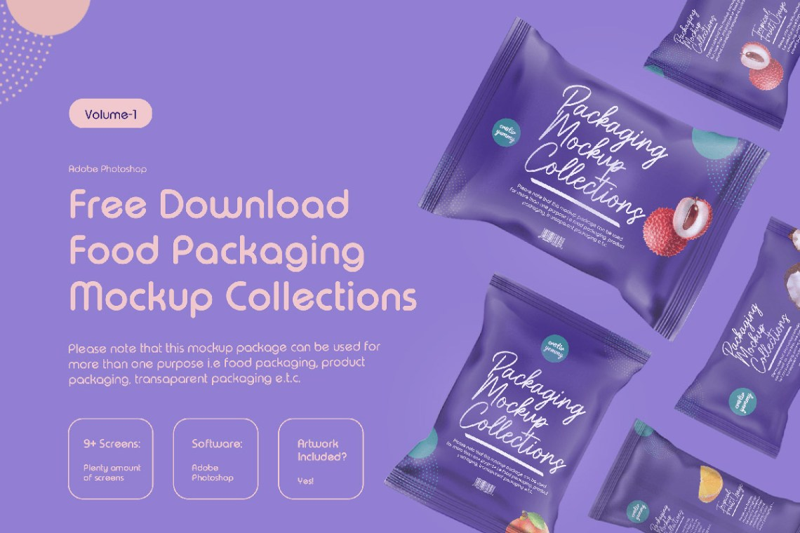Download Free Food Packaging Mockup Collection ~ Creativetacos