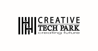 Creative Tech Park Logo Black and White BG