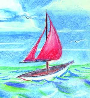 Drawing of Sail boat
