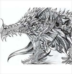 Simple Drawings Dragon