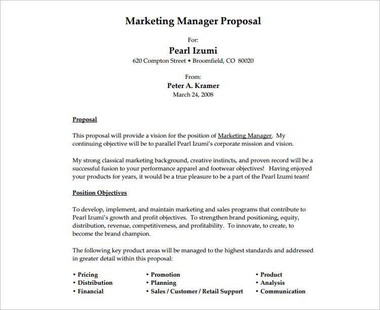 20+ Job Proposal Templates  Free Word, Doc, Excel