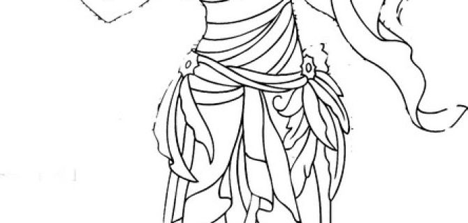 Coloring Page Arianrhod