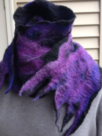 Boy Toy scarf~ black nuno felt