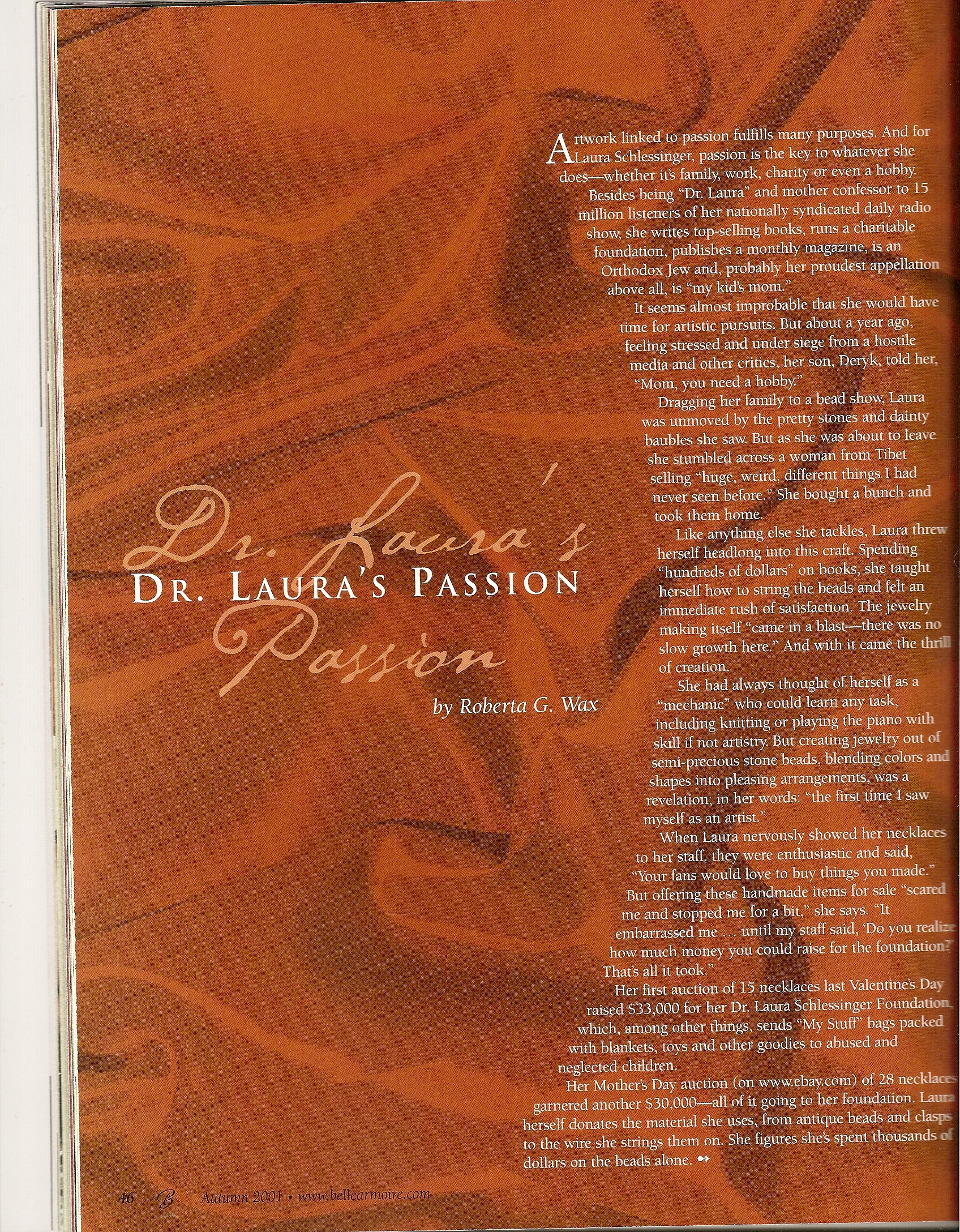 page 1, Dr. Laura interview