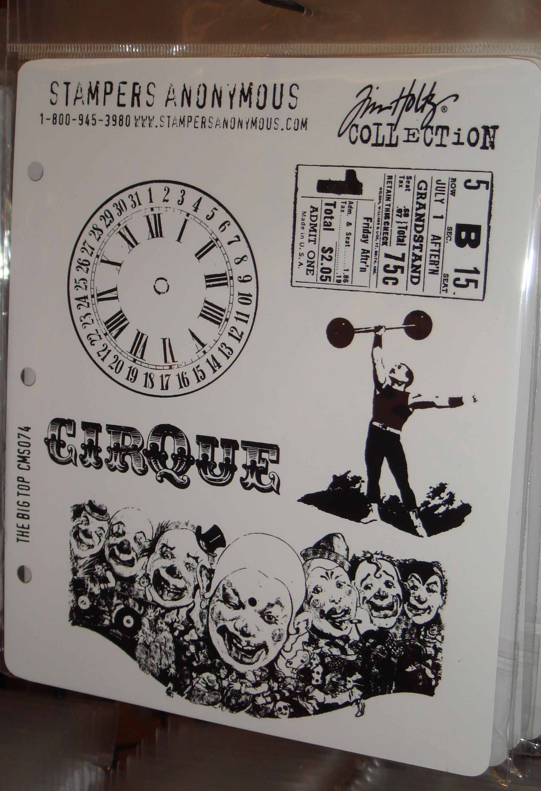 Carson Stampers Anon circus stamps