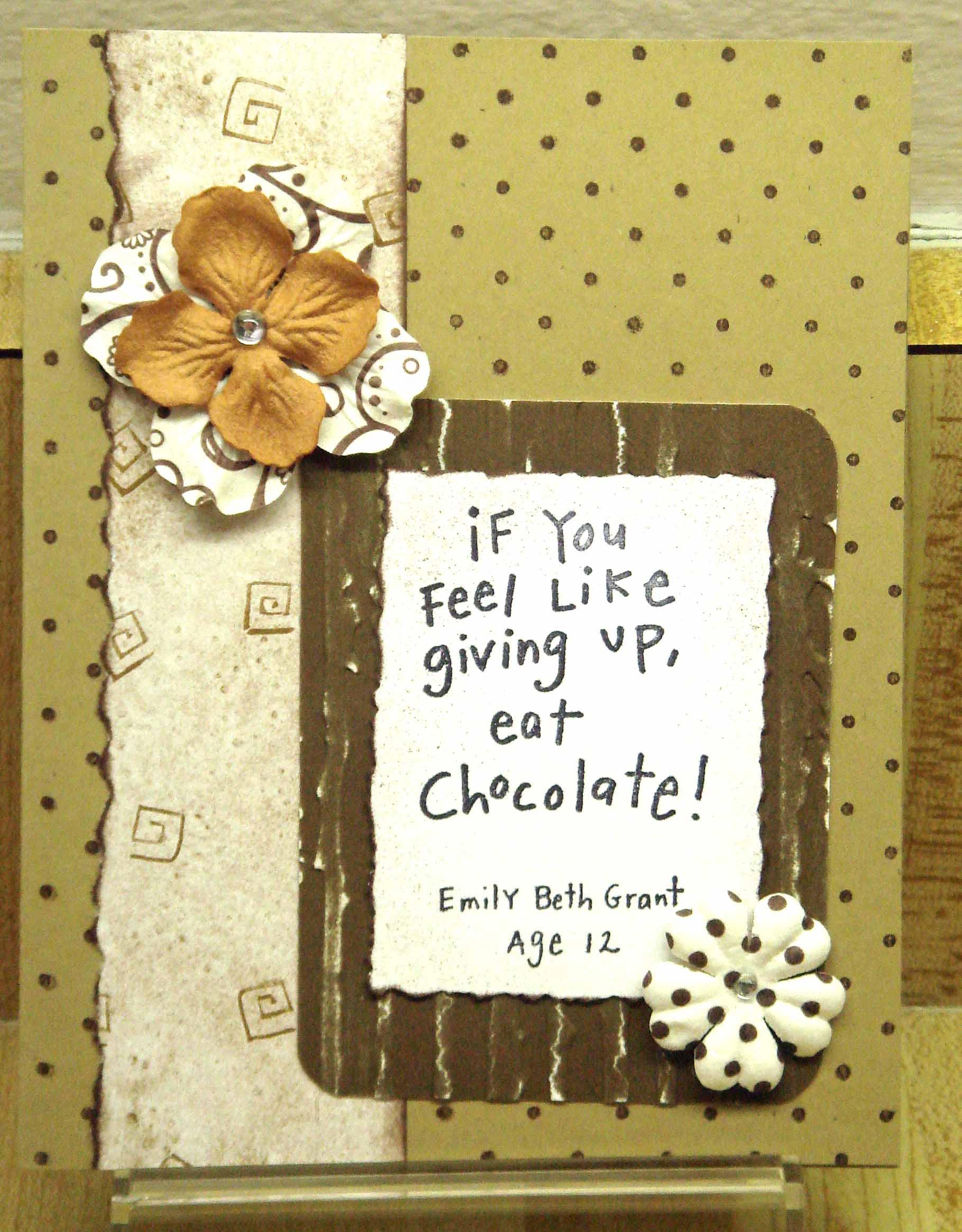 quote choco flowers