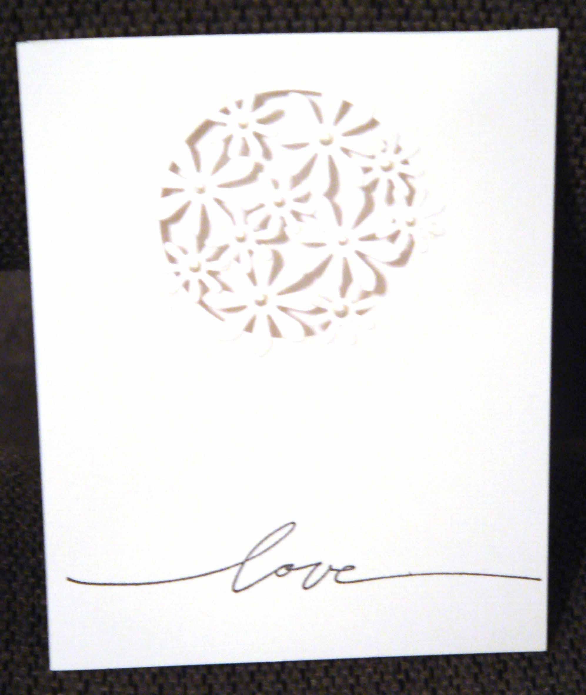 flower card circle