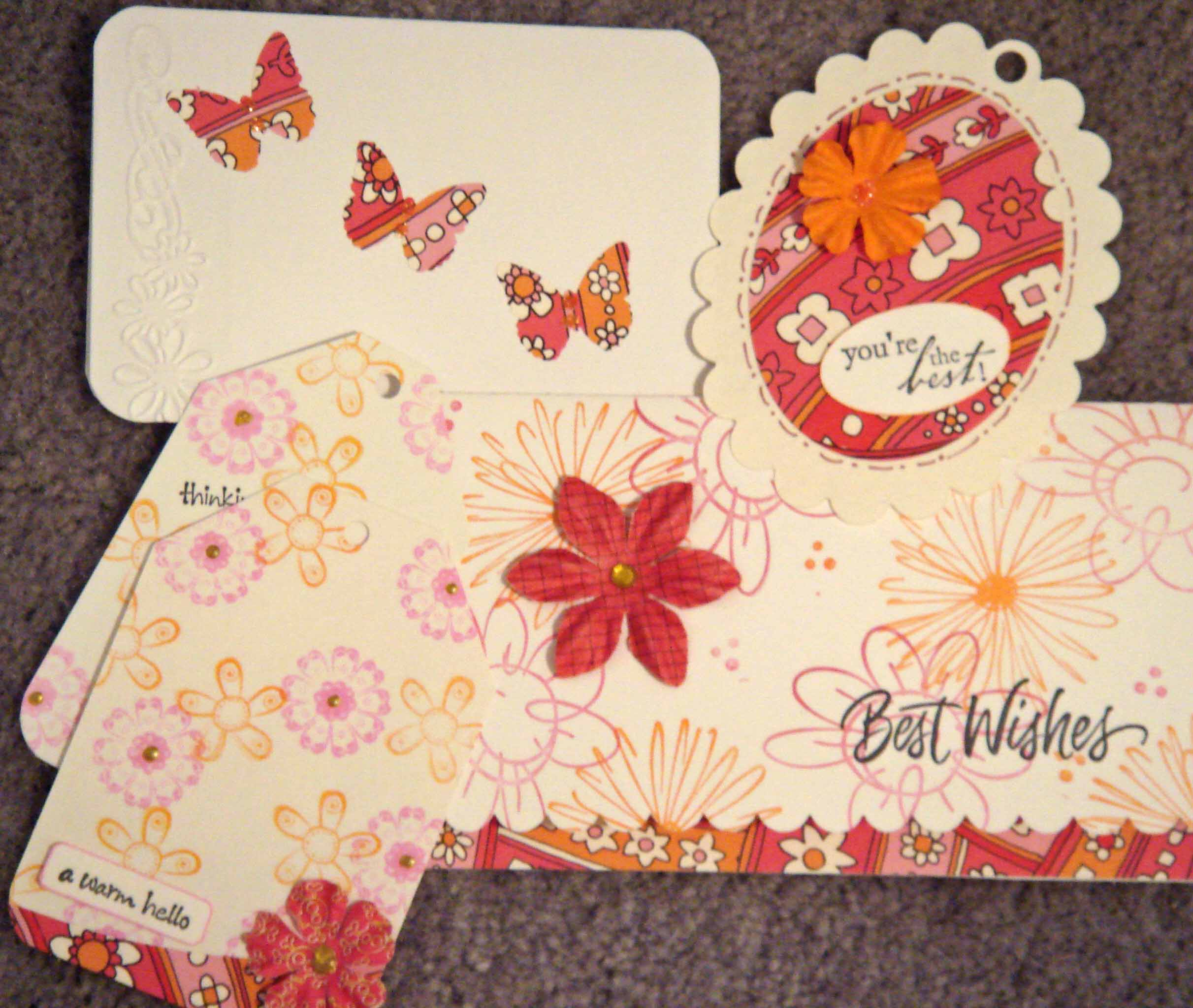 pink oval box cards