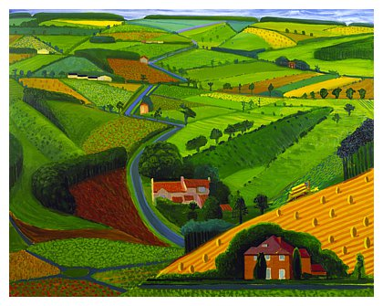 The Road Across The Wolds by David Hockney in 1997