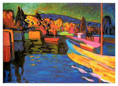 Autumn Landscape with Boats by Wassily Kandinsky in 1908