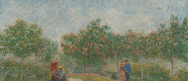 Garden with Courting Couples Square Saint-Pierre, 1887