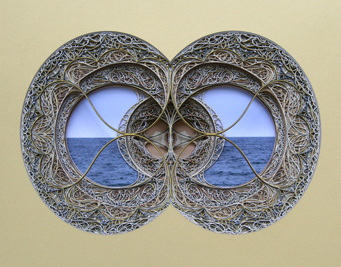 laser cut paper window