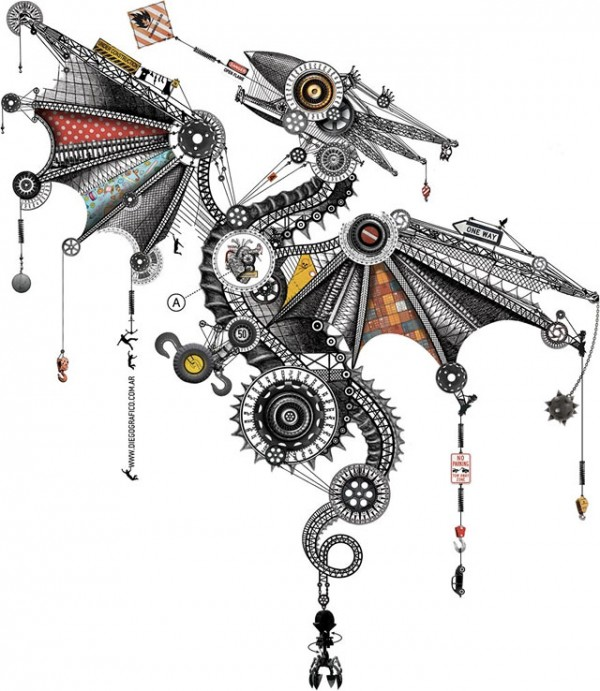 mechanical-dragon
