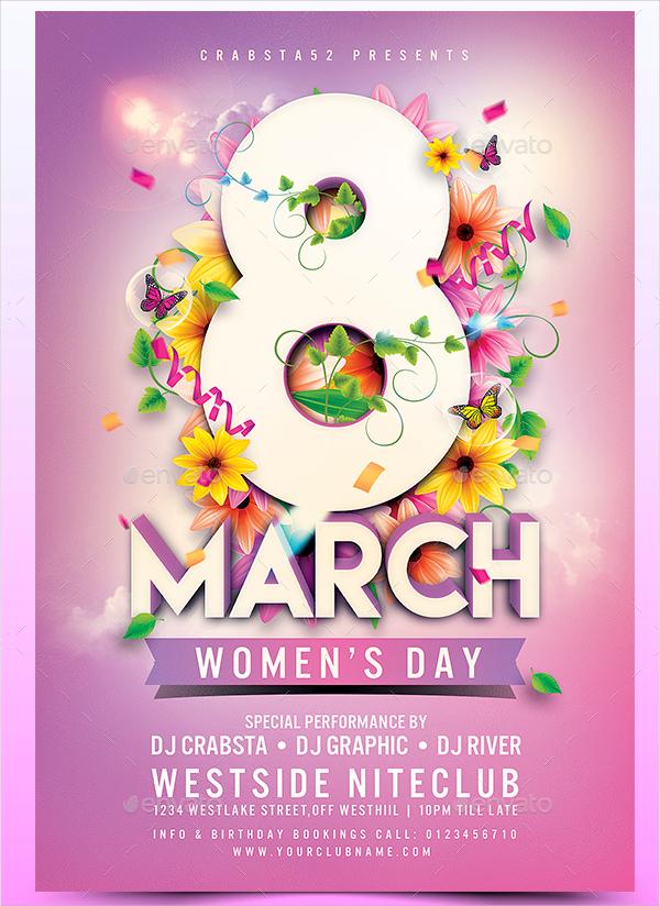 Creative Women's Day Flyer