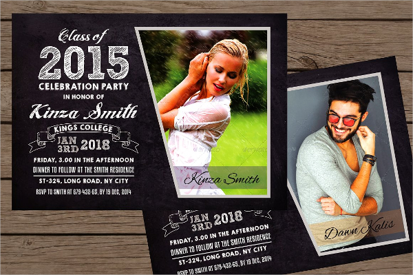Graduation Announcement Invitation Card