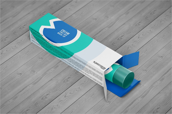 Dispenser Tube & Box Mockup