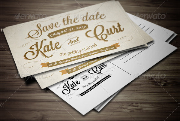 Editable Wedding Invitation Postcard