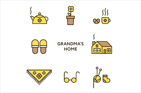 Grandma's Home Icon Set