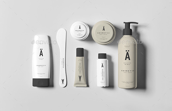East To Edit Cosmetic Package Mockups