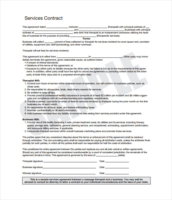 Contract Service Templates