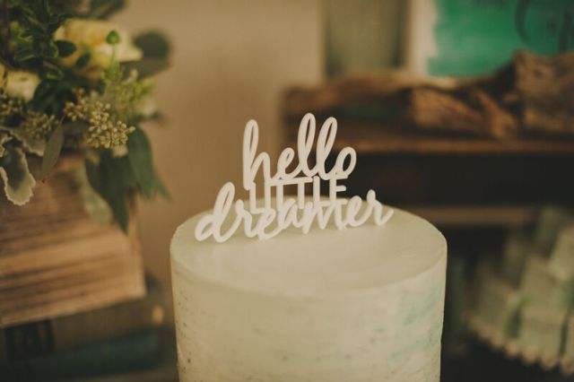 hello little dream custom cake topper by chic fete