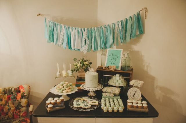 dessert table decorated by chic fete