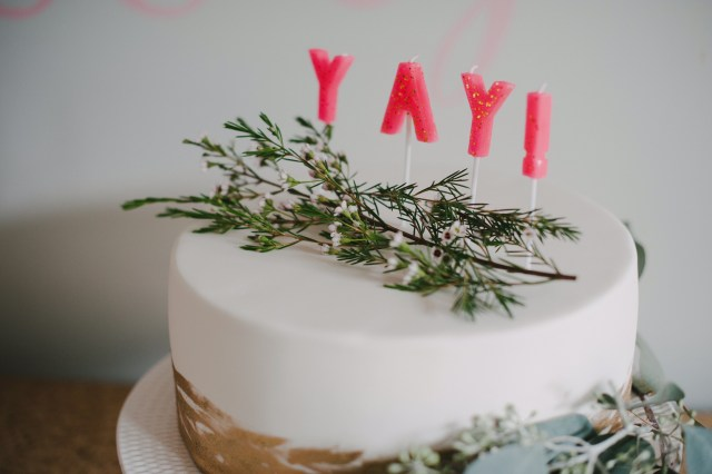 Yay Pink and Gold Party Cake | Creative Wife & Joyful Worker