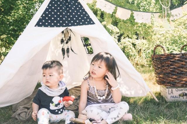 Kids Play Photoshoot with Kids TeePee - featured on Creative Wife & Joyful Worker